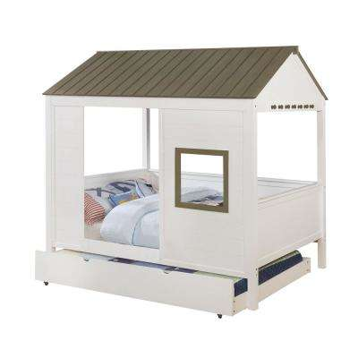 Gray and White Cobin Full Bed