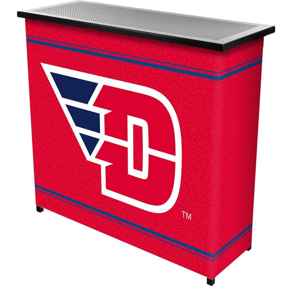 Trademark University Of Dayton 2 Shelf Black Bar With Case Lrg8000 Ud The Home Depot