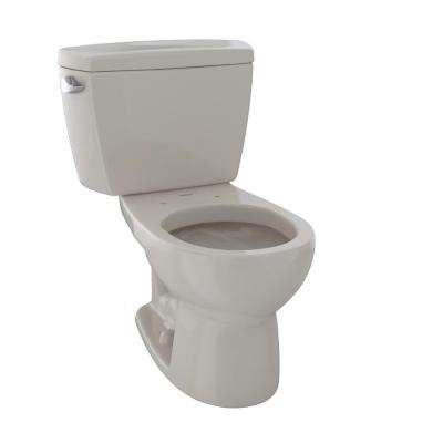 Drake 2-Piece 1.6 GPF Single Flush Round Toilet with Insulated Tank in Bone