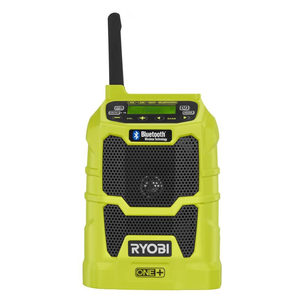 18V Cordless Bluetooth Worksite Compact Radio with 2 Speaker Ryobi One