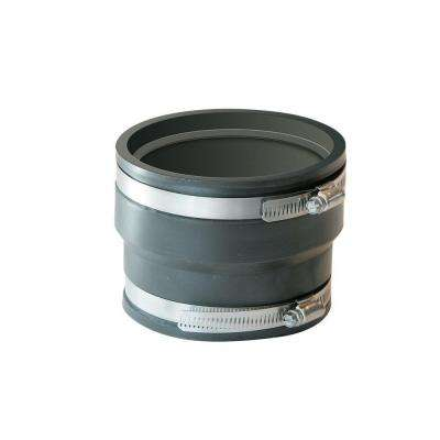 6 in. x 6 in. PVC ADS and Hancor Corrugated Pipe Flexible Coupling