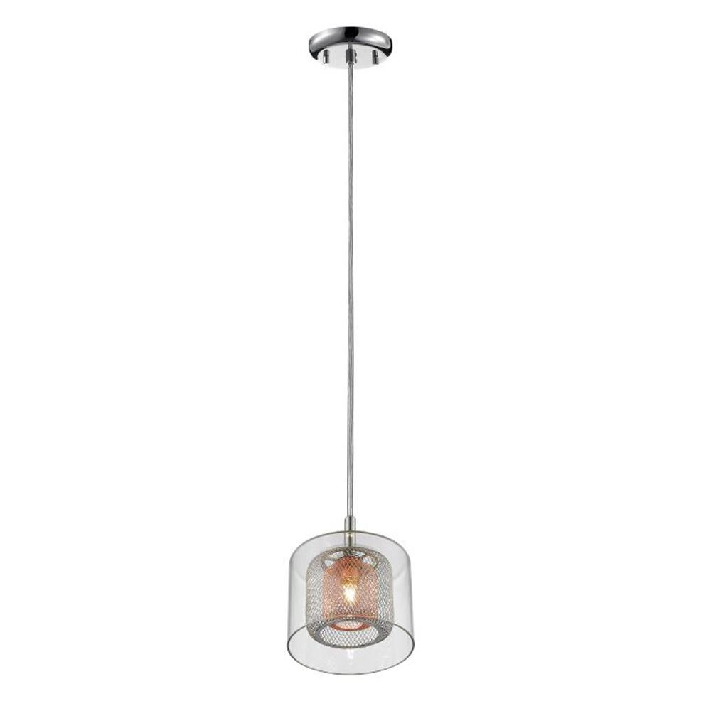 Home decorators collection 1 light glass shade with double inner home decorators collection 1 light glass shade with double inner chrome and copper mesh shades aloadofball Gallery
