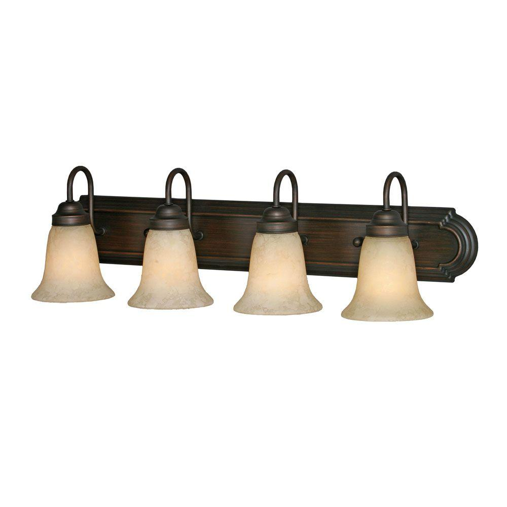 null Yvonne Collection 4-Light Rubbed Bronze Vanity Light