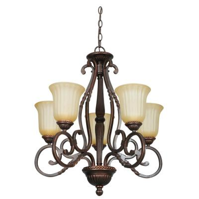 Daniella 24 in. 5-Light Oil Rubbed Bronze Chandelier