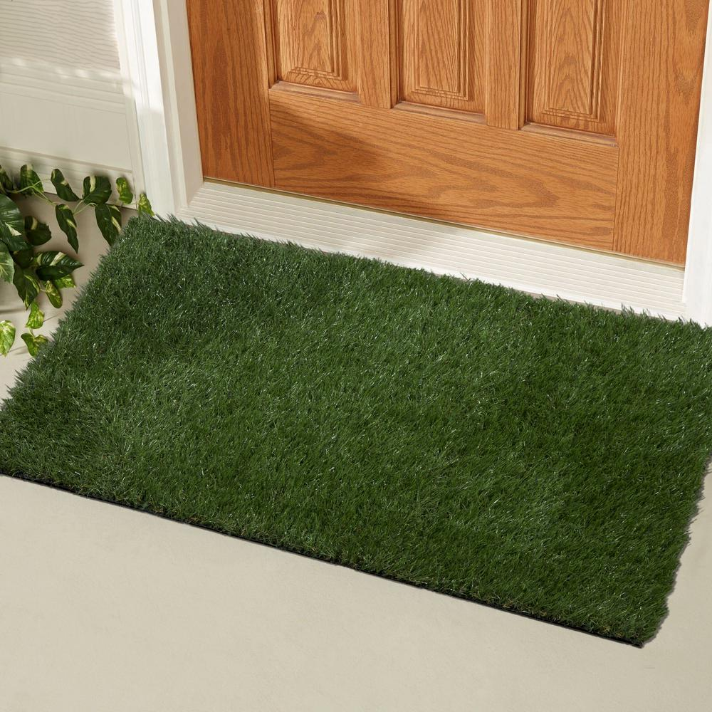 Superbe Ottomanson Garden Grass Collection 2 Ft. X 3 Ft. Artificial Grass Synthetic  Lawn Turf