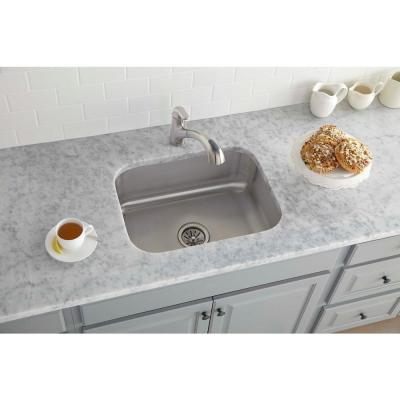 Avenue Undermount Stainless Steel 24 in. Single Bowl Kitchen Sink