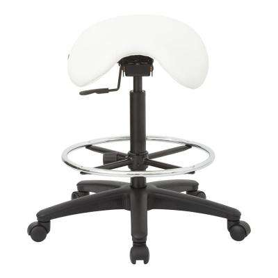 35 in. Pneumatic Drafting Chair with Dillon Snow Seat Saddle Seat