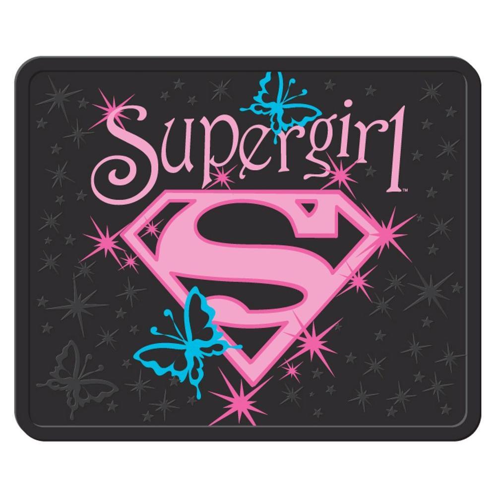 Warner Bros. Supergirl Stars Heavy Duty 17 in. x 14 in. Vinyl Utility Car Mat