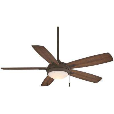 Lun-Aire 54 in. Integrated LED Indoor Oil Rubbed Bronze Ceiling Fan with Light
