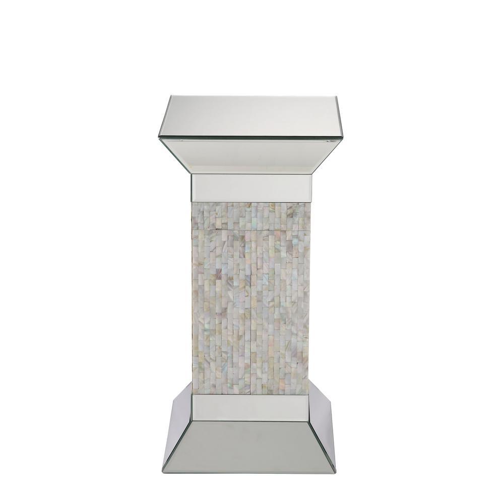 Huey Mirrored Pedestal Stand