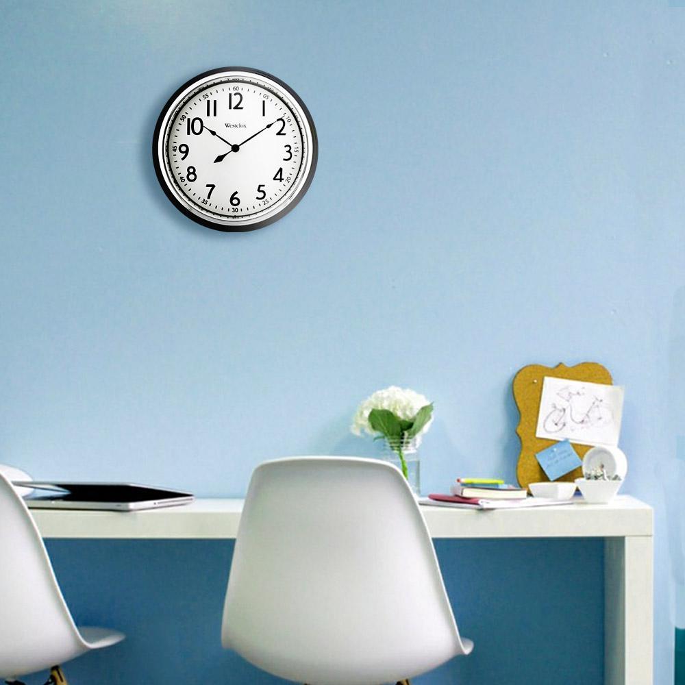 12 in. Black Vintage Bezel Wall Clock