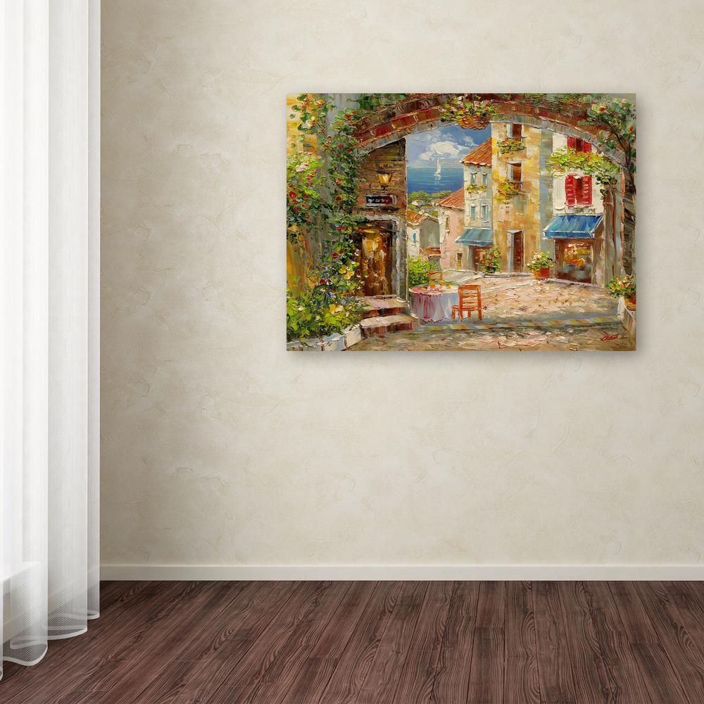 "24 in. x 32 in. ""Capri Isle"" by Rio Printed Canvas Wall Art"