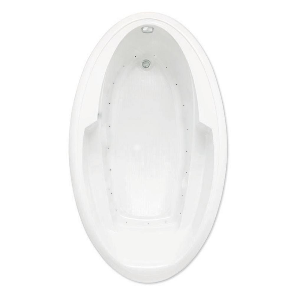 Ariel III 72 in. Acrylic Reversible Drain Oval Drop-In Air Bath Tub