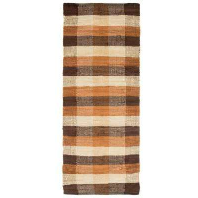 Chindi Plaid Sand 2 ft. x 5 ft. Runner