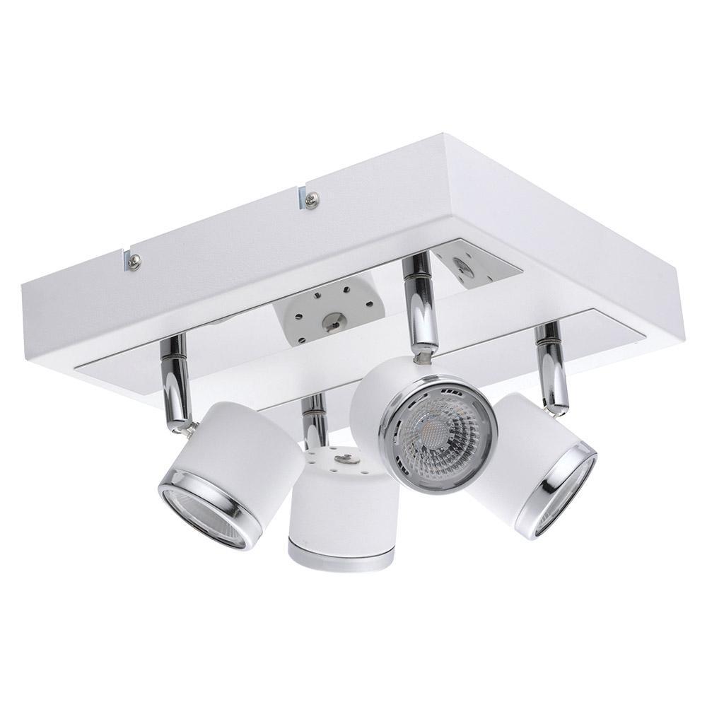 White And Chrome Integrated Led Track Lighting Kit