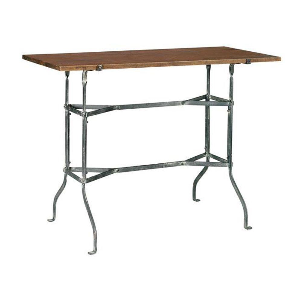 Home Decorators Collection 30 in. H Vintage Park Grey and Painted Console Table