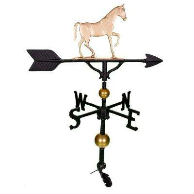32 in. Deluxe Gold Gaited Horse Weathervane