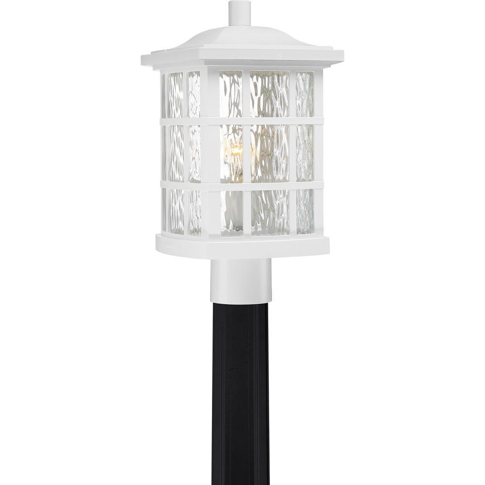 Stonington 1-Light White Lustre Outdoor Post Lantern