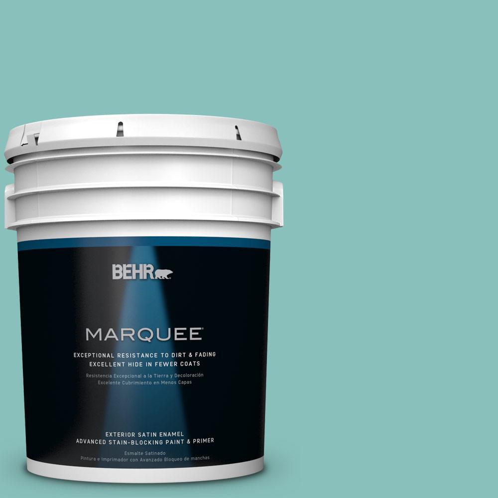 BEHR MARQUEE 5-gal. #M450-4 Undine Satin Enamel Exterior Paint