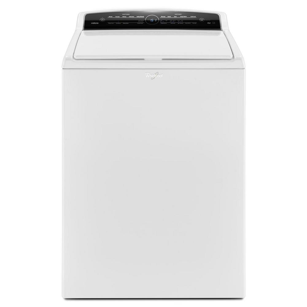 top load washer with adapative wash technology in white intuitive touch the home depot