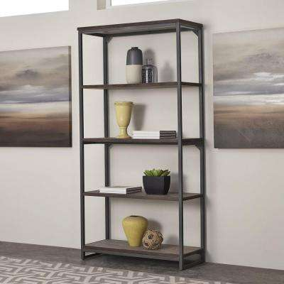 Barnside Metro Gray Open Bookcase
