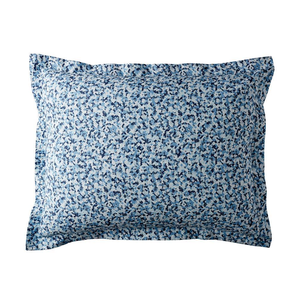 Splatter 300-Thread Count Organic Cotton Percale King Sham