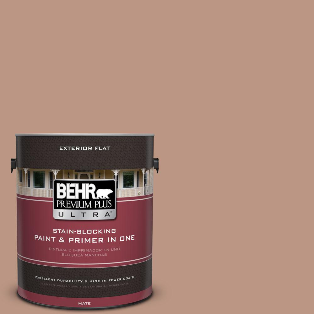 BEHR Premium Plus Ultra 1-gal. #S190-4 Spiced Brandy Flat Exterior Paint