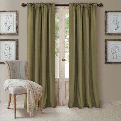 Cachet Textured Solid Blackout Window Curtain
