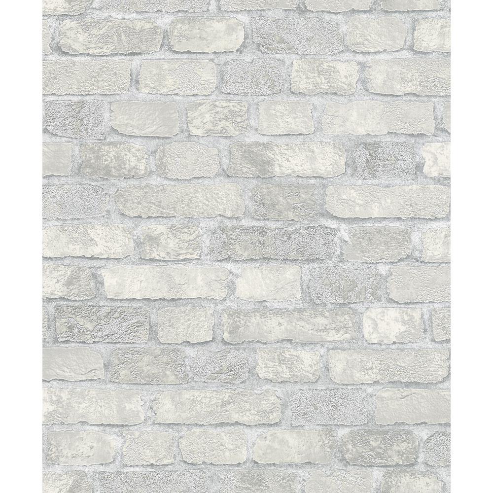 8 in. x 10 in. Granulat Off-White Stone Wallpaper Sample