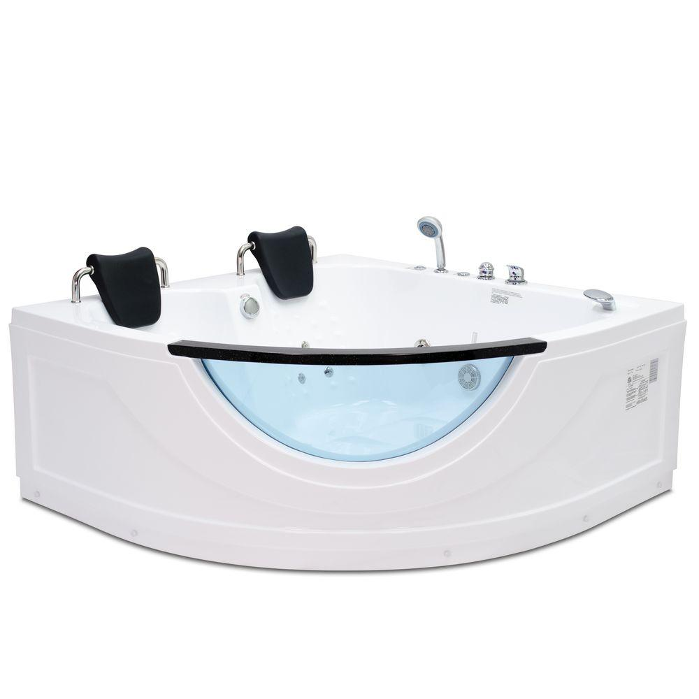 Steam Planet Chelsea 4.92 ft. Heated Whirlpool Tub in White-MG015H ...