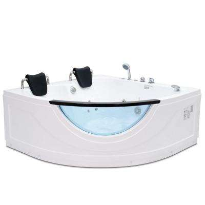 Chelsea 4.92 ft. Heated Whirlpool Tub in White