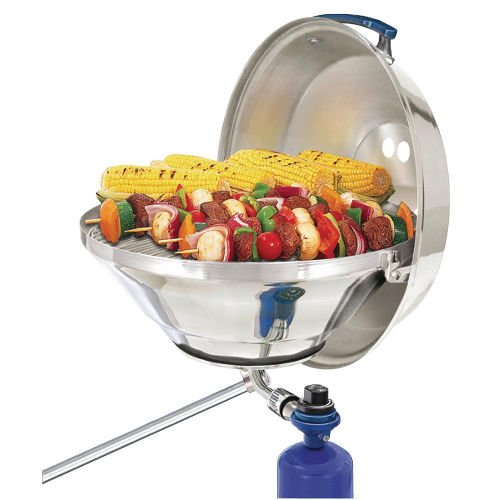 Magma Marine Kettle Portable Propane Gas Barbecue Grill in Stainless Steel