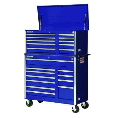 Tech Series 42 in. 21-Drawer Tool Chest and Cabinet Combo Blue