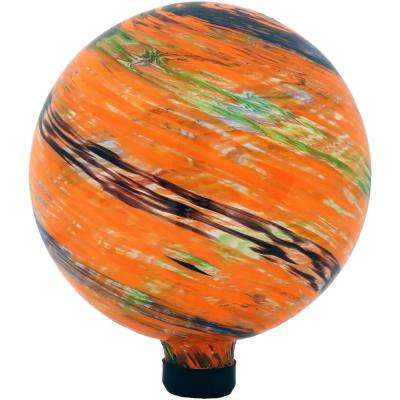 10 in. Sunset Sky Glass Outdoor Yard and Garden Gazing Ball Globe