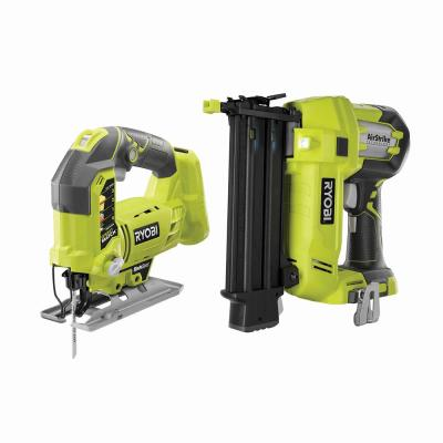 18-Volt ONE+ AirStrike 18-Gauge Cordless Brad Nailer with 18-Volt ONE+ Cordless Orbital Jig Saw (Tools Only)