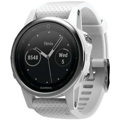 Fenix 5S 42 mm Multisport GPS Watch in White with Carrara White Band
