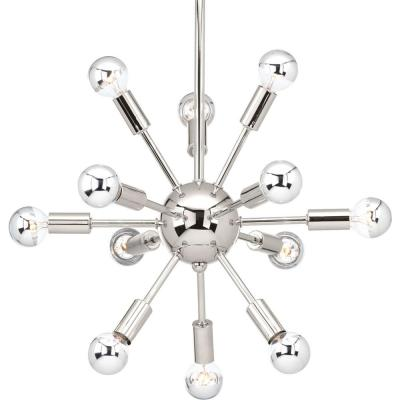 Ion Collection 12-light Polished Nickel Chandelier