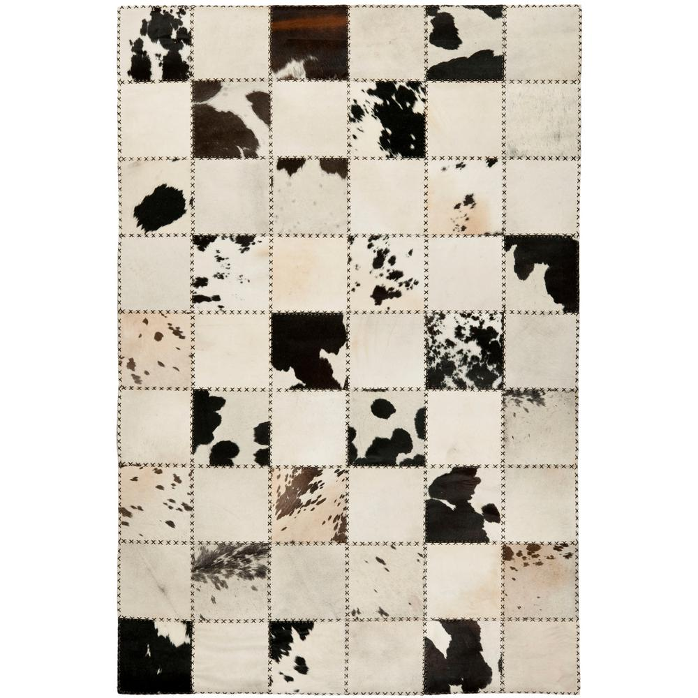 white and black rug carpet cow hide whiteblack ft area rug black and white rugs the home depot