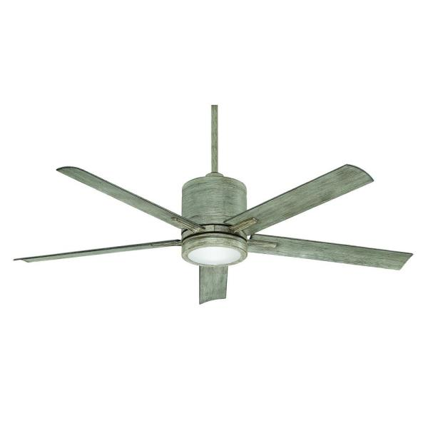 Vail 52 in. Integrate LED Indoor/Outdoor Driftwood Downrod Mount Ceiling Fan with Remote Control