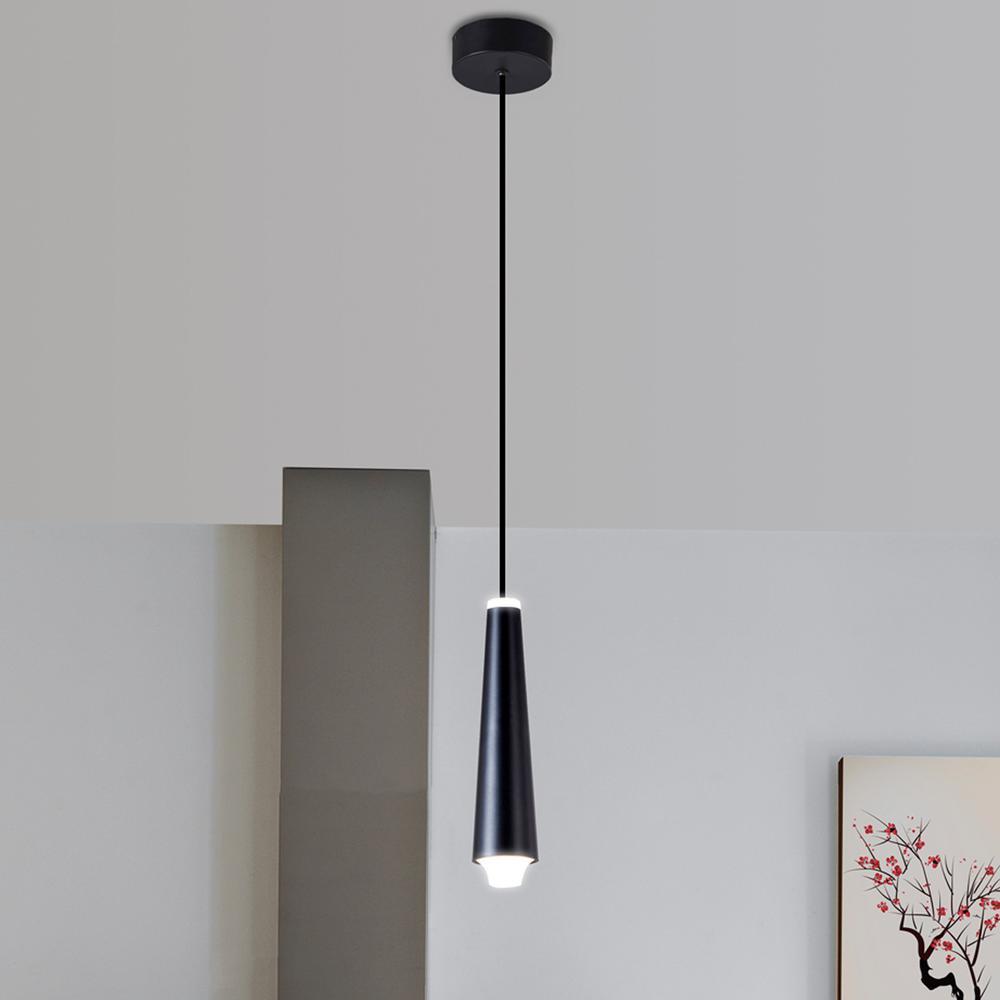 Expression 5-Watt Black Integrated LED Single Pendant Lighting Fixture
