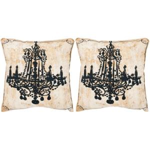 Fine Velleron Beige Graphic Down Alternative 18 In X 18 In Throw Pillow Set Of 2 Ocoug Best Dining Table And Chair Ideas Images Ocougorg