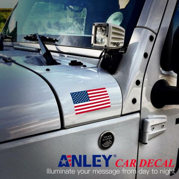 "Support US Military Industrial Strength Vinyl Decal For Cars 4 Pack American Flag Patriotic Faded Stars and Stripes Auto Decal Bumper Sticker 5x3/"" Trucks RV SUV/'s /& Boats 4x Faded"