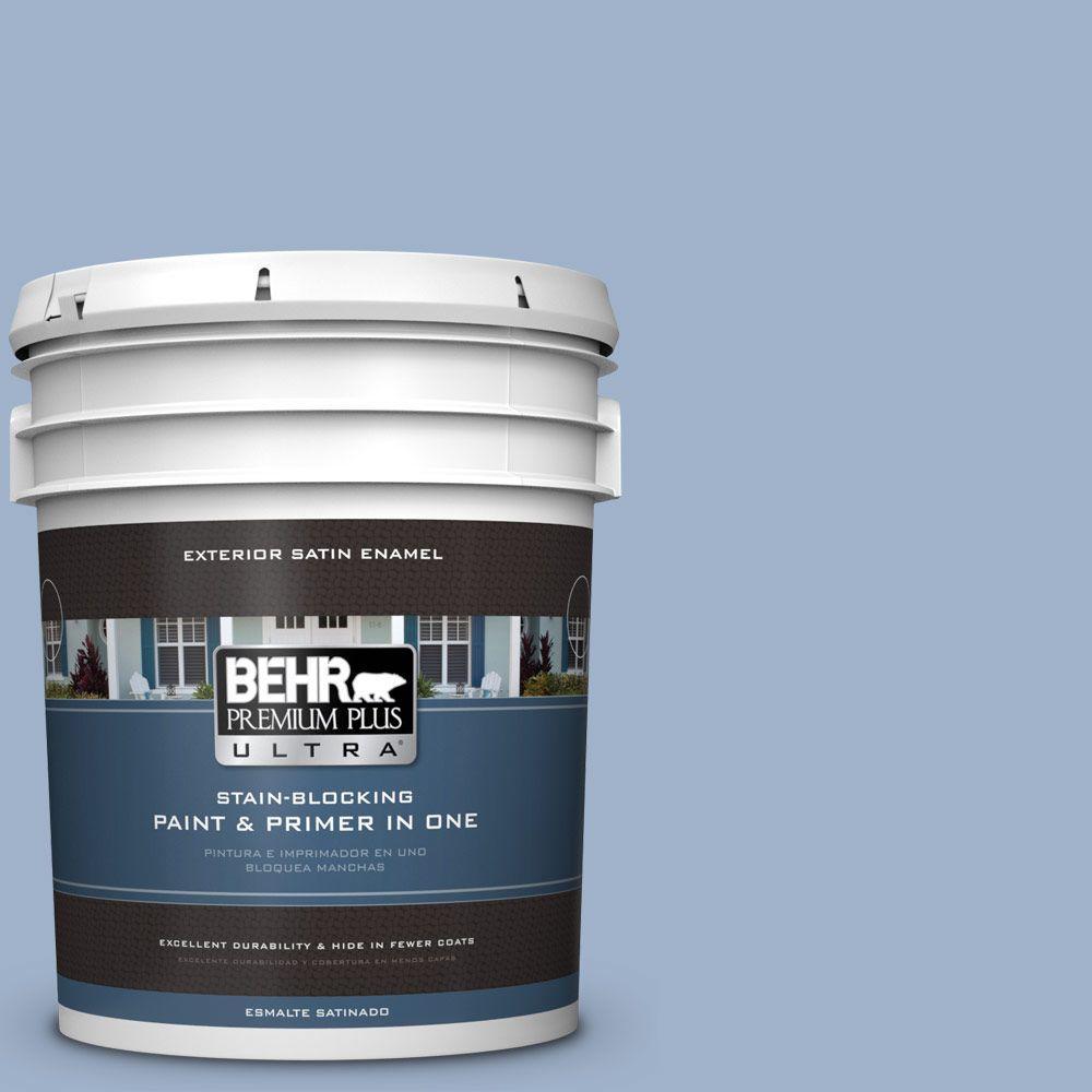 BEHR Premium Plus Ultra 5-gal. #S530-3 Aerial View Satin Enamel Exterior Paint
