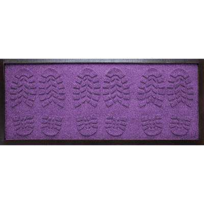 Purple 15 in. x 36 in. Lug Sole Boot Tray