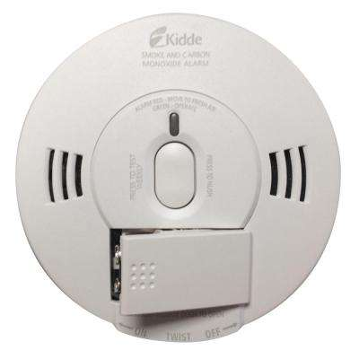 Hardwire Smoke and Carbon Monoxide Combination Detector with 9V Battery Backup, Voice Alarm, and Photoelectric Sensor