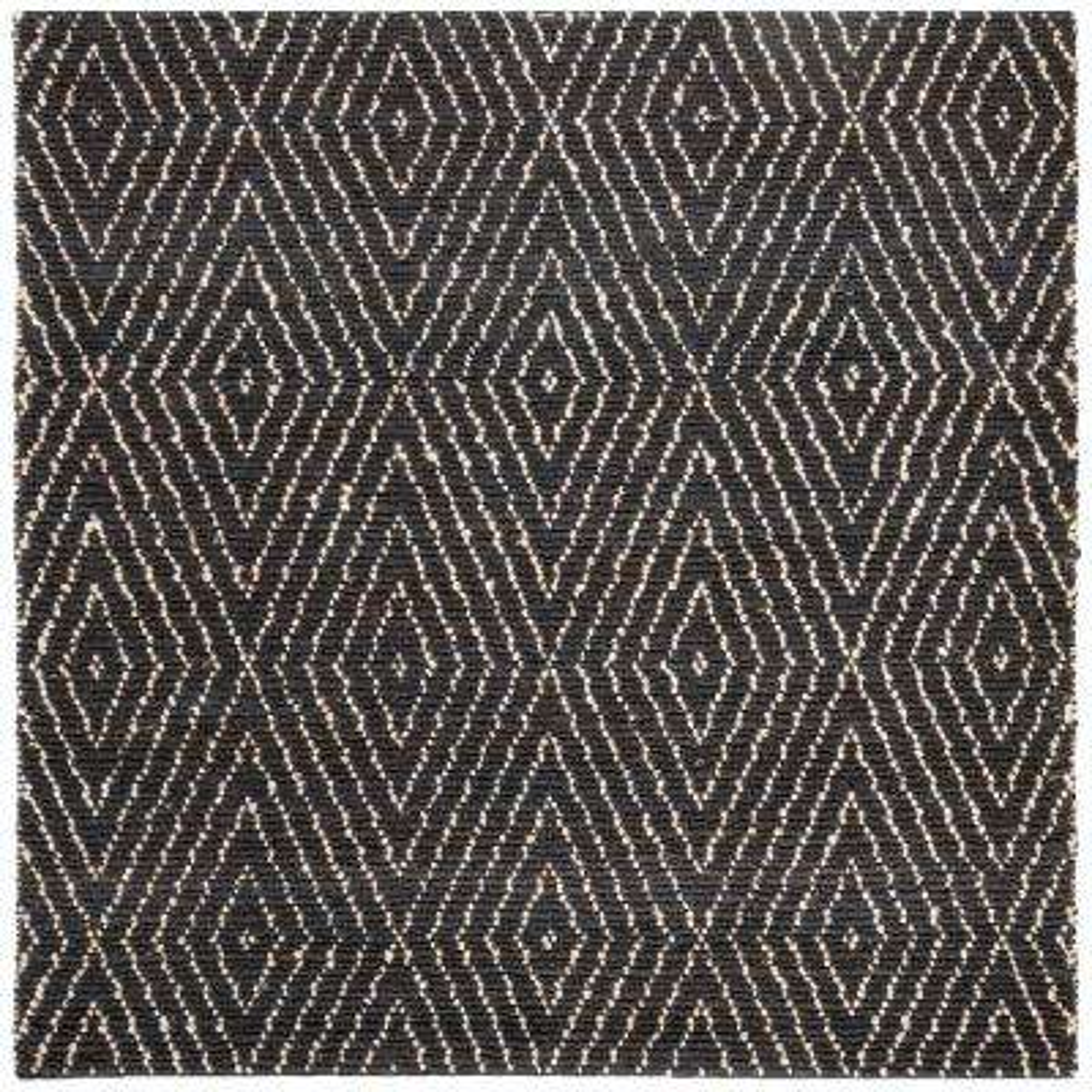 Bohemian Black/Ivory 6 ft. x 6 ft. Square Area Rug
