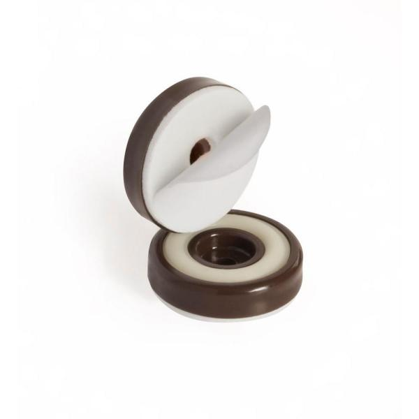 Slipstick 1 1 4 In Round Chocolate Brown Furniture Feet Floor Protectors With Rubber Grip Set Of 8 Cb325 The Home Depot