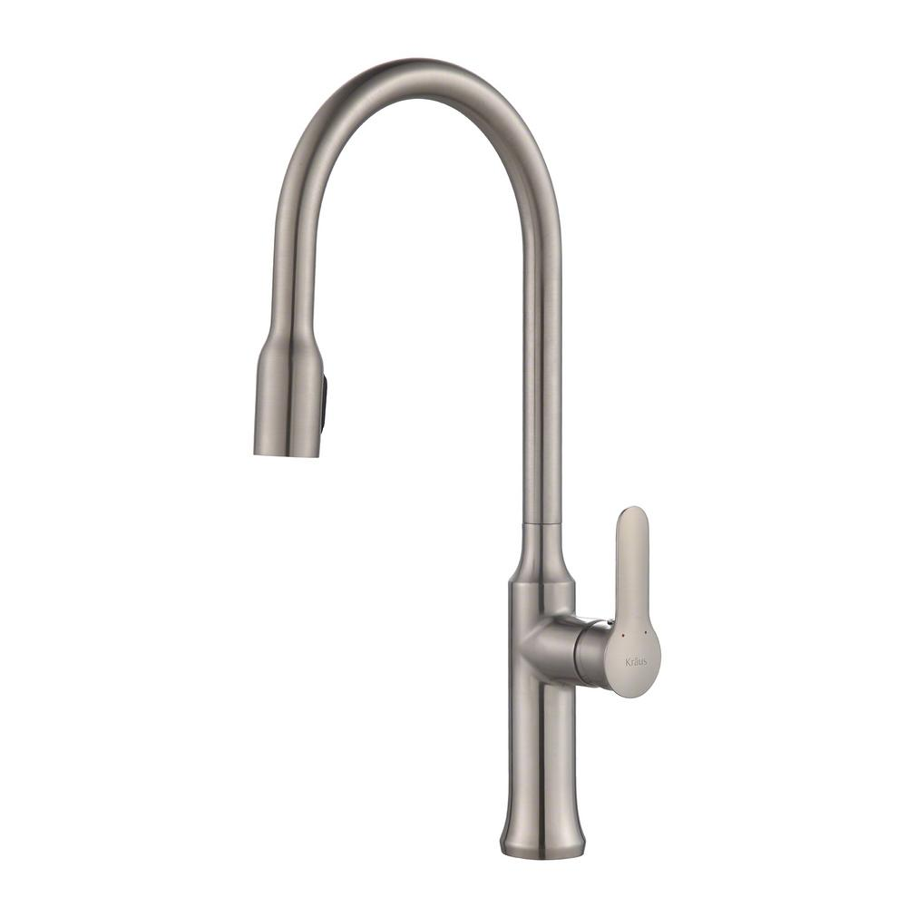 KRAUS Nola Single-Handle Concealed Pull-Down Kitchen Faucet with ...
