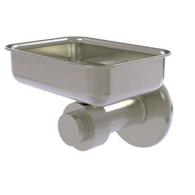 Mercury Collection Wall Mounted Soap Dish in Satin Nickel