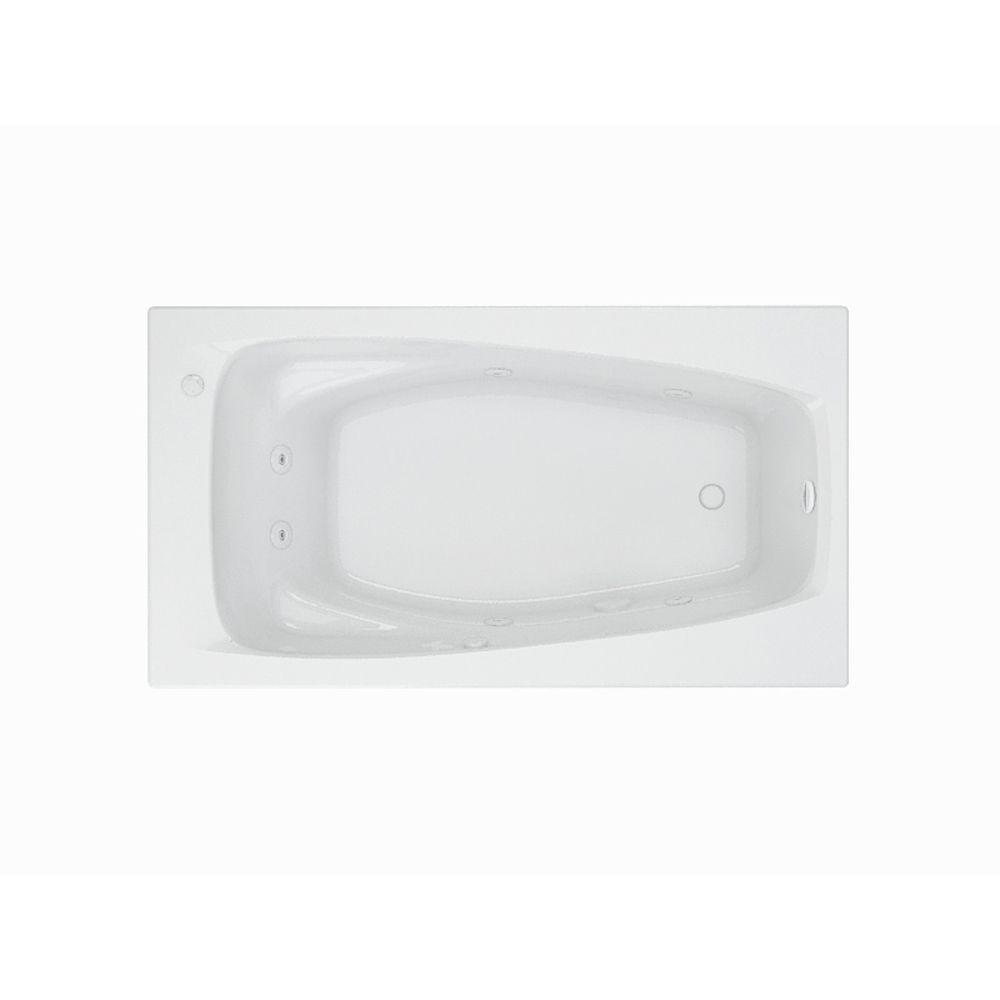 American Standard EverClean Reversible 60 In. Acrylic Rectangular Drop In  Whirlpool Bathtub In White
